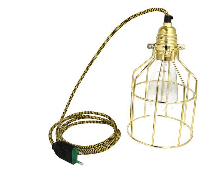 Lampa z klatką złotą | sklep z lampami bylight.pl