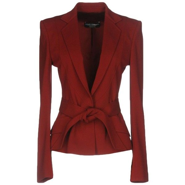 Dolce & Gabbana Blazer (€1.375) ❤ liked on Polyvore featuring outerwear, jackets, blazers, brick red, jersey blazer, stretch blazer, red blazer jacket, dolce gabbana jacket and lapel jacket