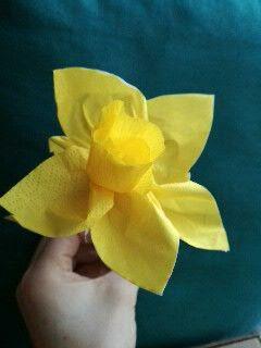 Dafodil idea for kids! Preschoolers flower craft
