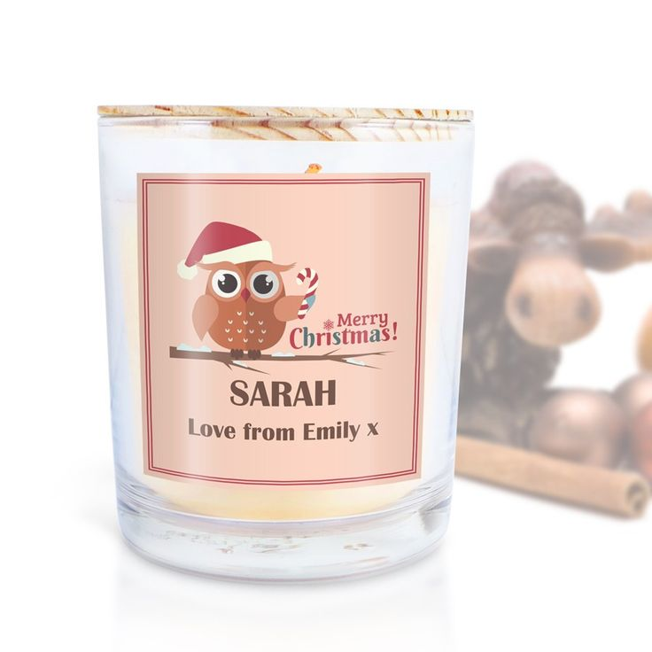 I've just added Personalised Scen....Check it out here http://emmazing.uk/products/personalised-scented-candle-mrs-christmas-owl?utm_campaign=social_autopilot&utm_source=pin&utm_medium=pin#homedecor #decor #personalisedgifts #personalised