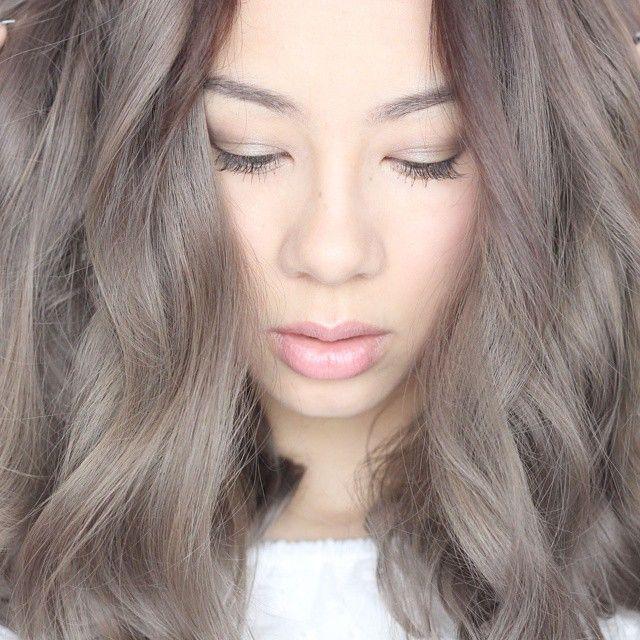 Light Grey Brown Hair Color Hair Makeup Pinterest Hair Coloring Ash Green Hair And Green
