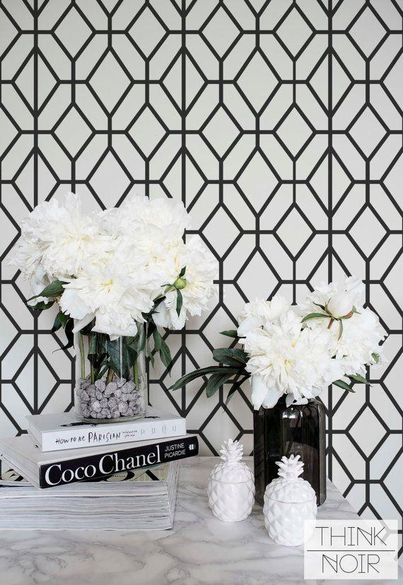 Dark Grey Geometric Wallpaper Pattern Removable Or Regular Minimalistic Wall Mural Paper Pinterest