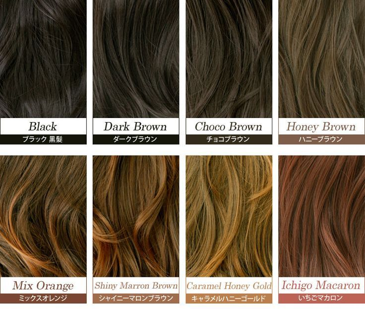 Por Hair Color Names Lots From In 2019 Brown Hair Shades