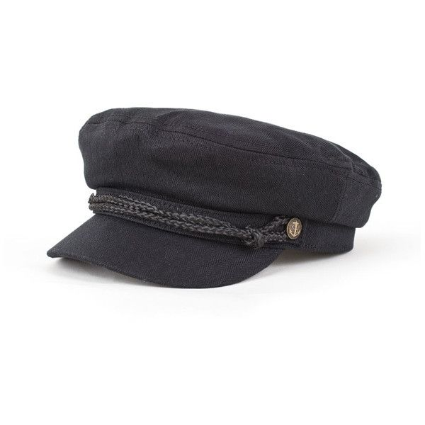 Brixton Fiddler Cap Black XS ($45) ❤ liked on Polyvore featuring accessories, hats, black, brixton and brixton hats