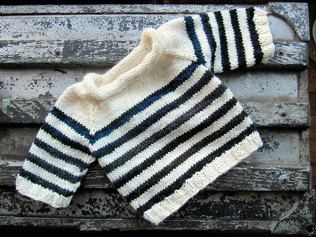 Finished Baby Sailor Sweater by sobodda, via Flickr