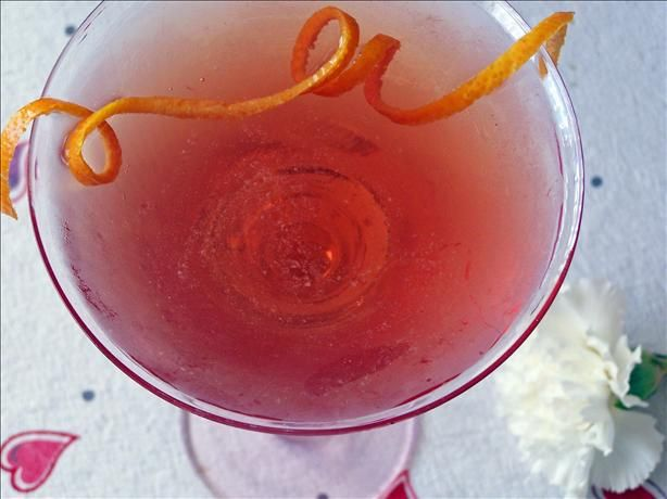 A cosmo kicked up with Grand Marnier for Lovers.