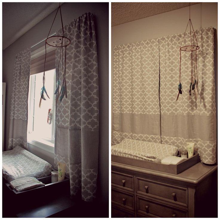 Banded Blackout Curtains #diy #babyroom #blackoutcurtains