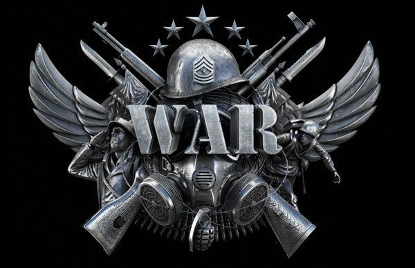 War - The board game logo by Manipula