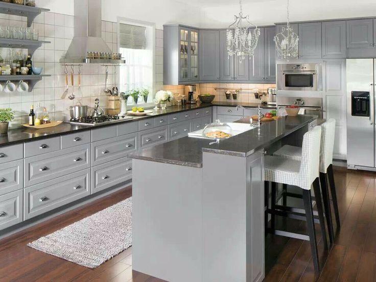 Amazing Grey Kitchen Ideas gray kitchen design idea 46 We Welcome Ikea S 2014 New Lidingo Gray Door Style For Kitchen Cabinets