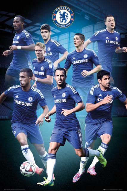 Chelsea Londyn Zawodnicy 14/15 - plakat - 61x91,5 cm  Gdzie kupić? www.eplakaty.pl