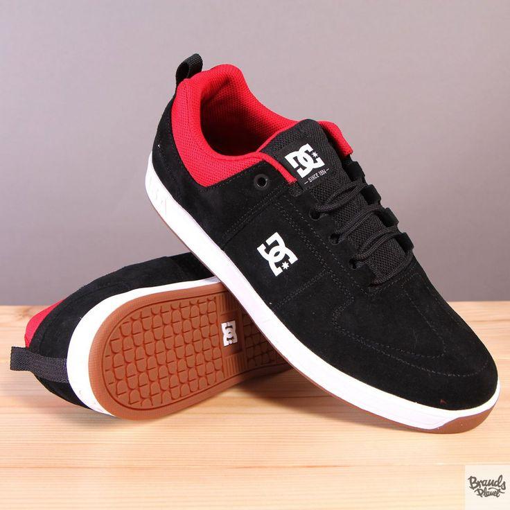 Czarne męskie buty sportowe na wulkanizowanej podeszwie DC Lynx Black / Red / White  / www.brandsplanet.pl / #dc shoes