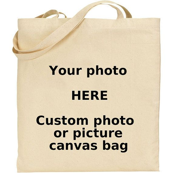 ECustom Photo or Picture Canvas Bag by WorldWideWoodShop on Etsy