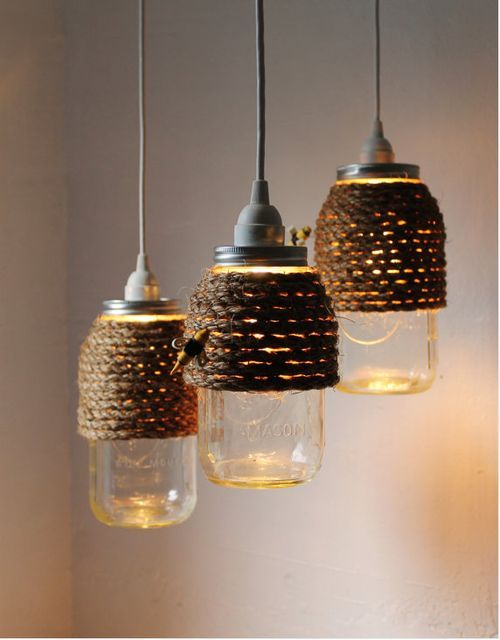 More DIY Mason Jar Lighting Ideas!  Visit & Like our Facebook page! https://www.facebook.com/pages/Rustic-Farmhouse-Decor/636679889706127