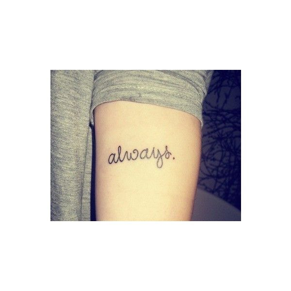 Always forearm tattoo found on Polyvore