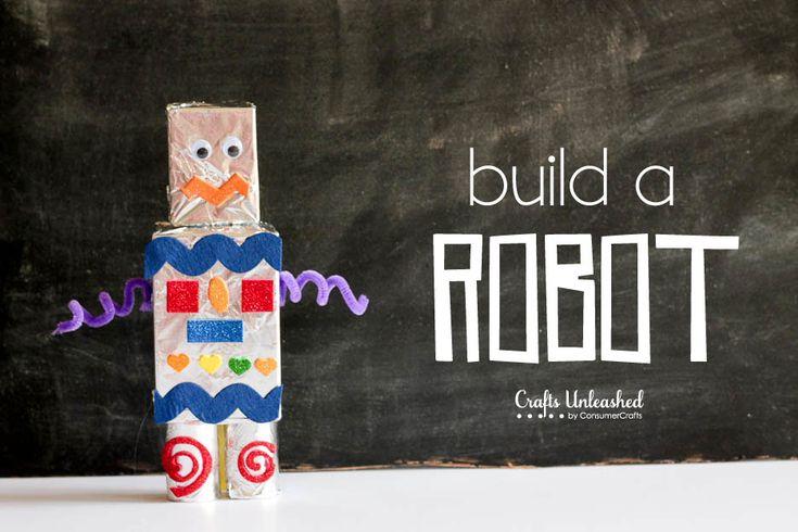 Kids craft: How to make aa robot