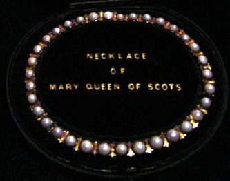 a royal necklace of Scottish freshwater pearls set in gold, owned in the 16th century by Mary Queen of Scots
