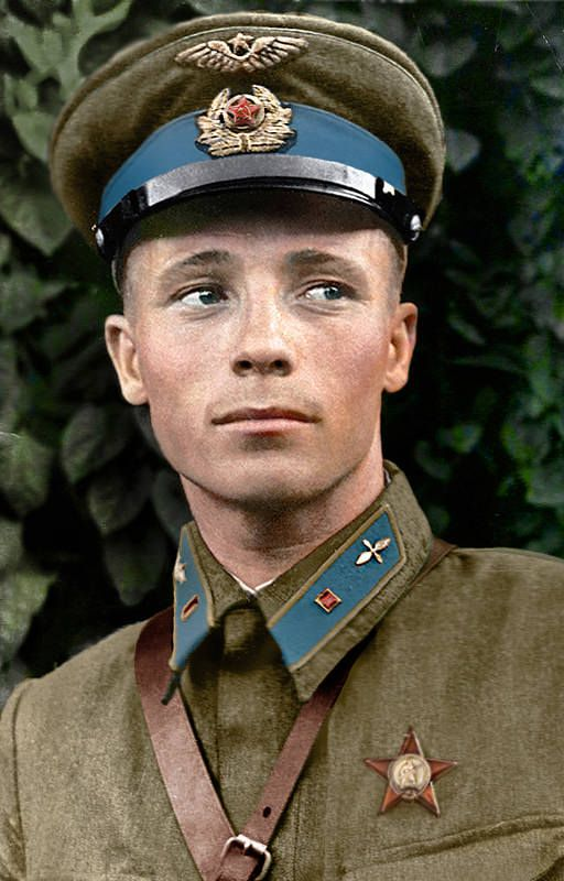 Viktor Vasilevich Talalikhin (Виктор Васильевич Талалихин) (18 September 1918 – 27 October 1941) was a Soviet lieutenant and aviator during the Winter War and World War II and a Hero of the Soviet Union, among the first to perform aerial ramming at night.:
