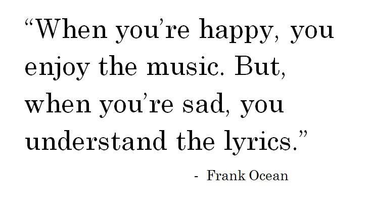 Music and lyrics by Frank Ocean