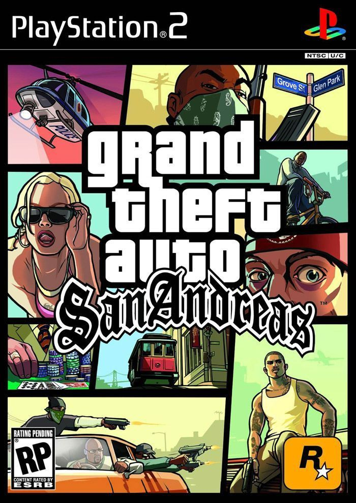 (*** http://BubbleCraze.org - Free family-friendly Android/iPhone game for all ages. ***)  Grand Theft Auto: San Andreas [Black Label] (Sony PlayStation 2, 2004)