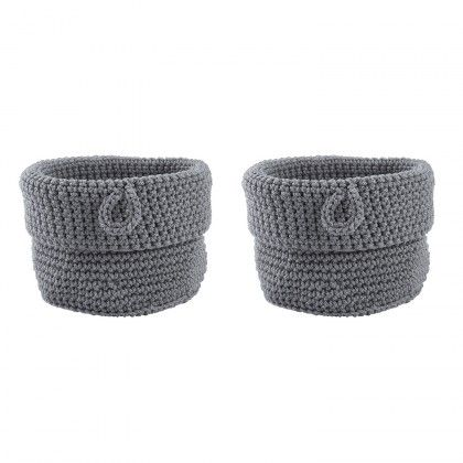 Basket - GREY small set of two