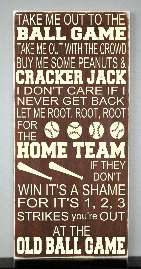 Hey, I found this really awesome Etsy listing at https://www.etsy.com/listing/179765843/take-me-out-to-the-ballgame-baseball