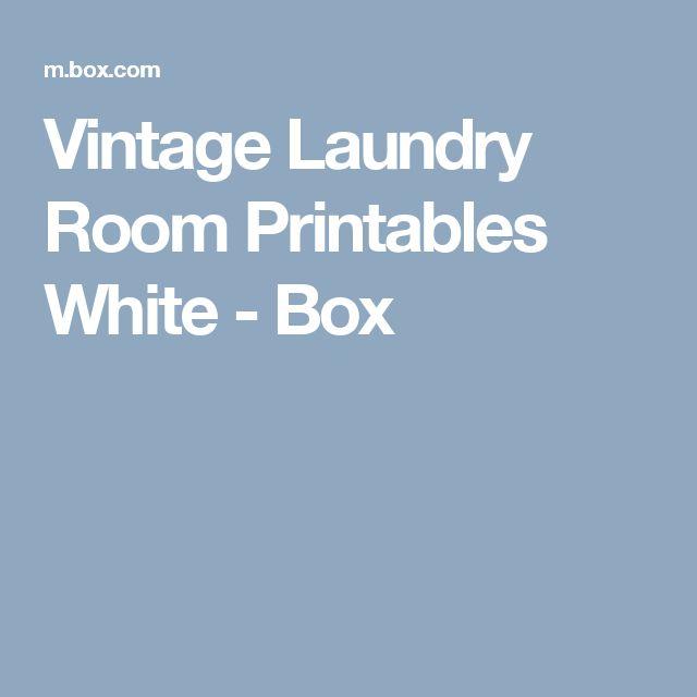 Vintage Laundry Room Printables White - Box
