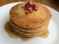 Recetas saludables de Pancakes de avena - Postres sanos en http://bajar-panza.blogspot.com