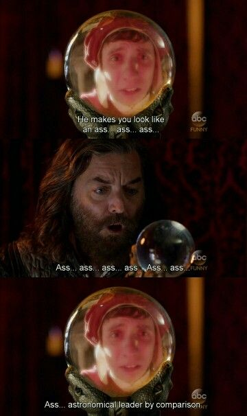 """He makes you look like an ass...ass...ass...astronomical leader by comparison"" - The Chef and Richard #Galavant"