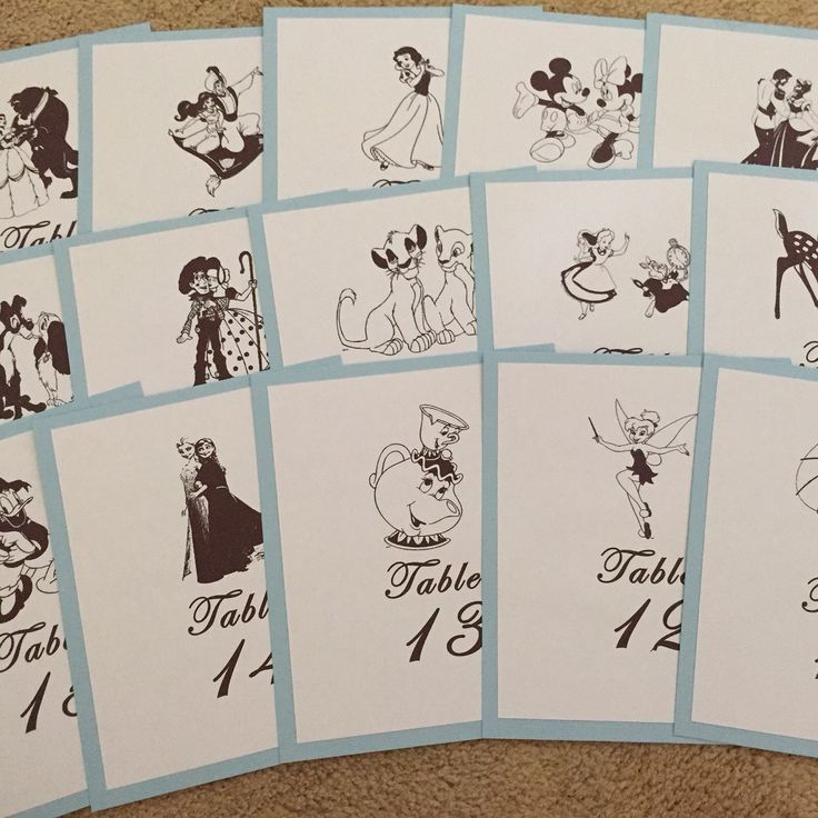 Disney table numbers.                                                                                                                                                                                 More