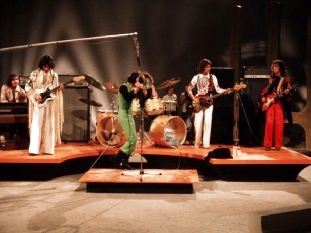 Los Trapos actuando en Canal 13 de Televisión. Santiago de Chile 1976.