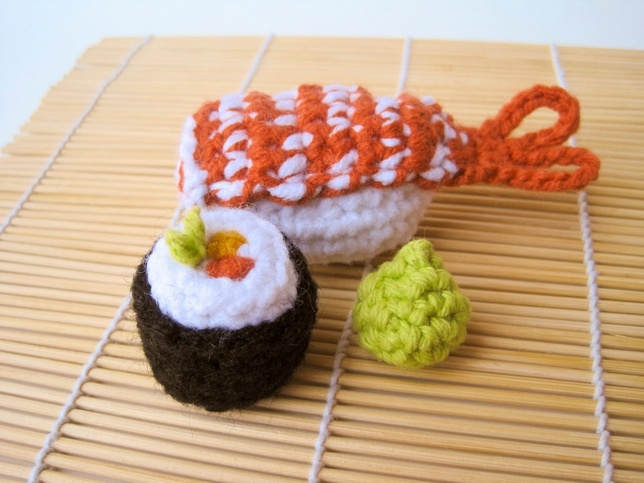 Amigurumi Sushi Cat : 78 Best images about Gifts-Sushi Crochet on Pinterest ...