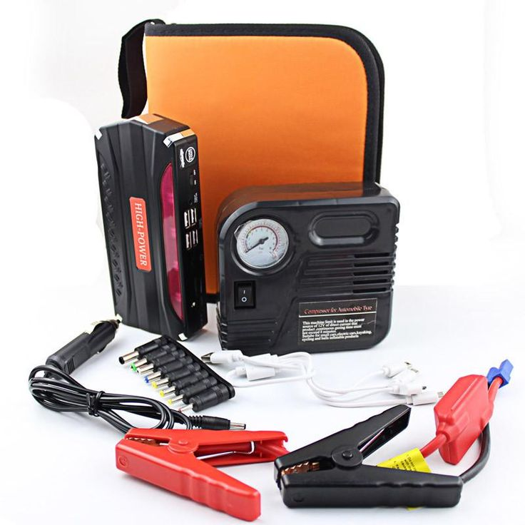 High quality Car Jump Starter with pump Auto Engine Emergency Start Battery Source Laptop 12000mAh Charger Phone Power Bank