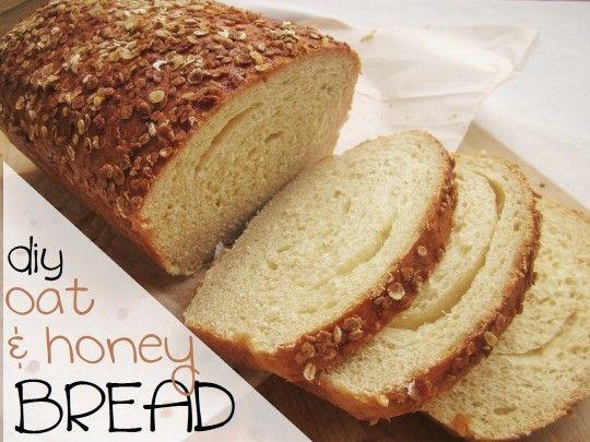 diy oat and honey bread
