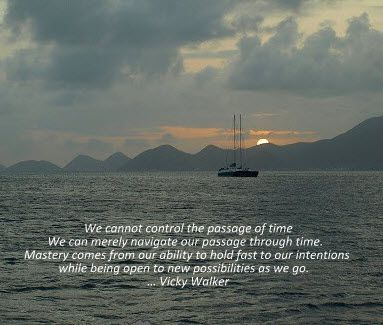 We cannot control the passage of time...