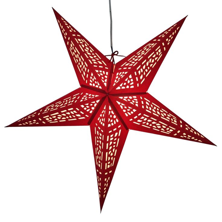 Vitral Red Star lamps http://www.29june.com/index.php/paper-stars.html