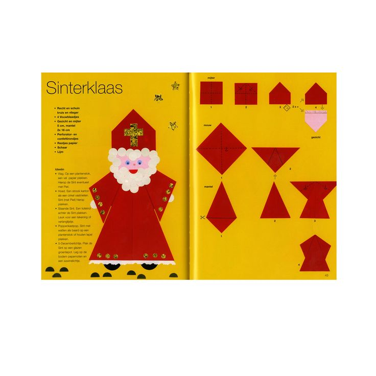 Knutselopdracht - Vouwwerkje Sinterklaas