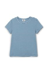 <p>The Uber T-shirt is made from ribbed organic cotton with an all-over striped print. It has a simple round neck, short sleeves and a tight, slightly cropped fit.</p><p>- Size Small measures 73,20 cm in chest circumference, 52 cm in length and 12,50 cm in sleeve length.</p>