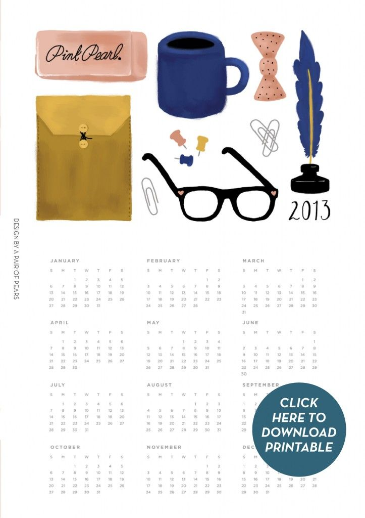 41 best calendars: free printable 2013 images on Pinterest | 2013 ...