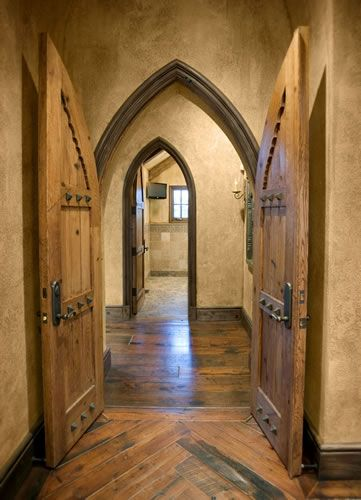 Old World Gothic - These with those asymmetrical natural flow wood floors would be amazing in a house.
