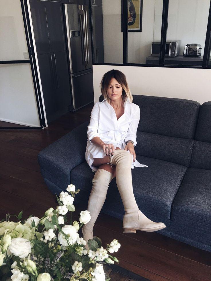 17 meilleures id es propos de cuissardes sur pinterest bottes en daim bottes sexy et mi bas. Black Bedroom Furniture Sets. Home Design Ideas