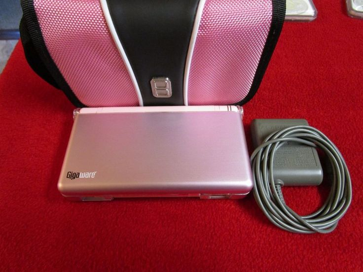 Nintendo DS Lite Metallic Rose Handheld System w/Carrying Case & HardCase bundle #Nintendo