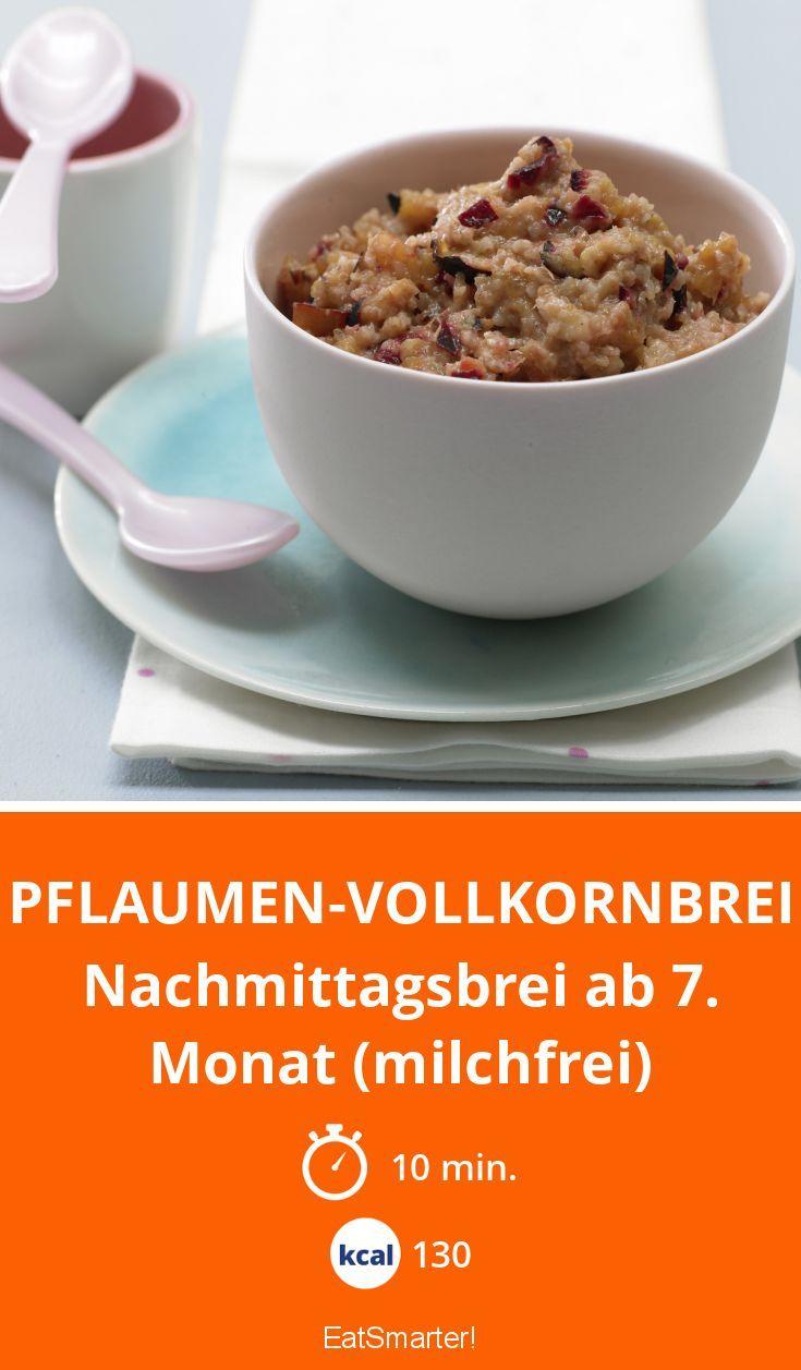 Pflaumen-Vollkornbrei - Nachmittagsbrei ab 7. Monat (milchfrei) - smarter - Kalorien: 130 Kcal - Zeit: 10 Min. | eatsmarter.de