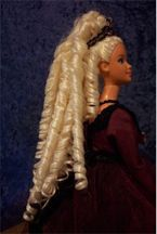 Barbie Hair Rescue. Take a tangles mess and turn it into gorgeous locks. How-to for a 'Barbie Perm' (It calls for a few perm rods, I think it could be done carefully with things from around the house.) Read ALL the instructions FIRST!