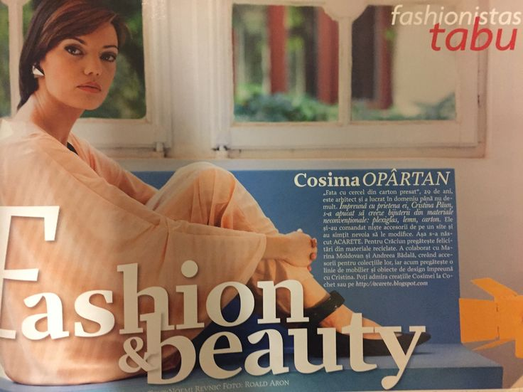 "Cosima Opartan for ""Fashionista"" column, Tabu magazine, September 2009. Interview by me:) Photo by Roald Aron"