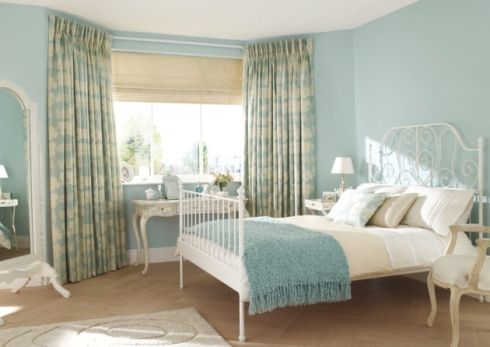 Duck egg blue bedroom