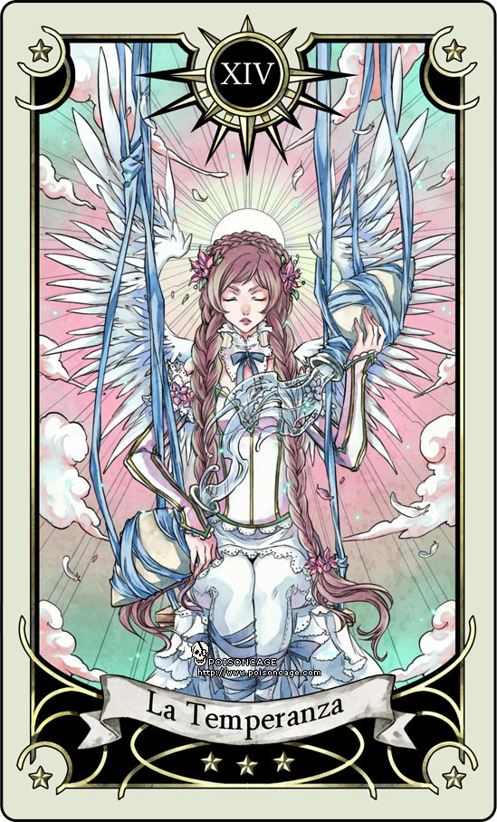 Tarot card 14- the Temperance by rann-rann.deviantart.com // luv the style!!