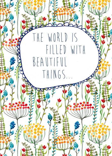 Floral: The World Is Filled With Beautiful Things Wall Art from Artifax