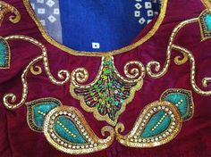 Like A Dream - Aari Embroidery: Samples of Custom Embroidery Using Maggam or…
