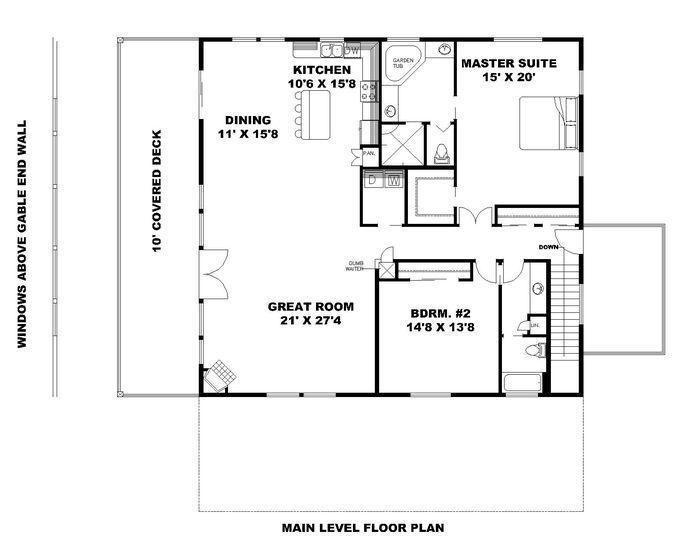 Home Plan 001 3602 Main Level Floor Plan Garage Floor Plans House Plans Garage House Plans