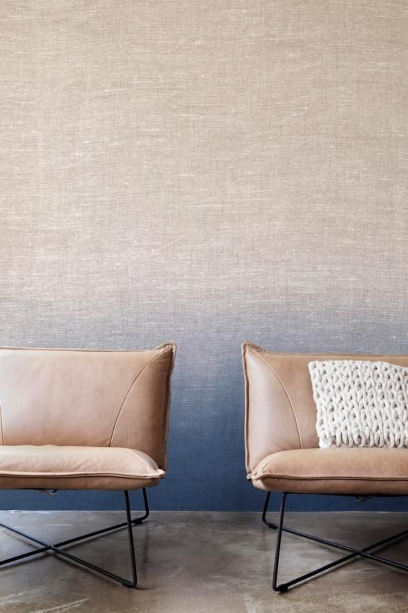 Neutral and Blue, tektura wall covering